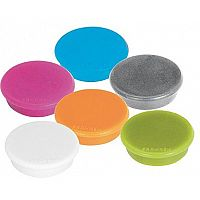 Franken MagFun Tacking Magnets Round 32mm Assorted Colours Pack of 10 HML30 99