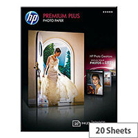 HP 13x18cm Premium Plus Photo Paper 300gsm Glossy (Pack of 20)