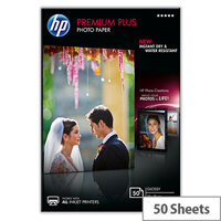 HP 10x15cm Premium Plus Photo Paper 300gsm Glossy (Pack of 50)