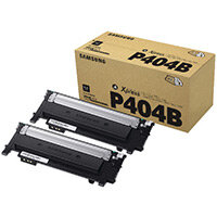 Samsung CLT-P404B Black Standard Yield Toner Cartridges Pack of 2 SU364A