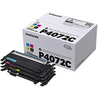 Samsung CLT-P4072C CYMK Toner Cartridges Pack of 4 SU382A