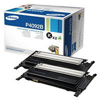 Samsung CLT-P4092B Black Standard Yield Toner Cartridges Pack of 2 SU391A