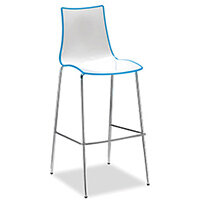 Gecko Blue Shell Canteen & Breakout Stool with Chrome Legs