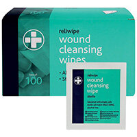 Reliance Medical Reliwipe Wound Cleansing Wipes Pack of 100 745
