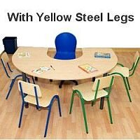 Horse Shoe Primary School Table 1200x1800x550mm Yellow  #PSD
