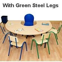 Horse Shoe Primary School Table 1200x1800x700mm Green  #PSD