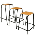 Student Stool Stackable 525mm High