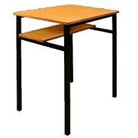 Single Student Table - Half Shelf 600x600x760mm  #SSD