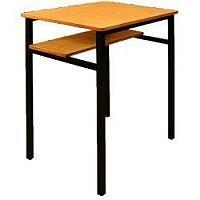 Single Student Table - Half Shelf 600x450x760mm  #SSD