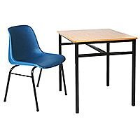 Single Student Table Suitable For Classrooms, Lecture Halls, Education Centers & More. 600mm x 600mm x 760mm. Includes Tie Bars For Reinforcement. #SSD