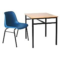 Single Student Table Suitable For Classrooms, Lecture Halls, Education Centers & More. 600mm x 450mm x 760mm. Includes Tie Bars For Reinforcement. #SSD