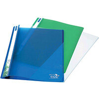 Rapesco Eco PP Report File A4 Asorted Pack of 10 1099