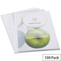 Rapesco Eco Punched Pockets A4 Clear Pack of 100