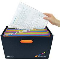 Rapesco Supafile Plus Expanding File A4 Assorted 1552
