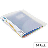 Rapesco 2 Ring Binder 25mm Clear Pack of 10