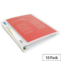 Rapesco Presentation 4 Ring Binder A4 25mm Clear Pack of 10