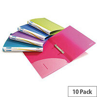 Rapesco Ring Binder A4 15mm Assorted Pack of 10