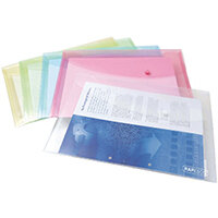 Rapesco Foolscap Assorted Pastel Popper Wallets Pack of 5 3 For 2 HT810932
