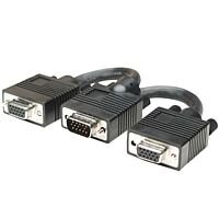 Manhattan VGA Video Cable 11 cm Shielding VGA Splitter Male to 2 x Female Cable Nickel Plated