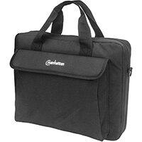 """Manhattan London Laptop Bag 14.1"""", Top Loader, Accessories Pocket, Shoulder Strap (removable), Notebook Case, Black, Three Year Warranty, Messenger case, 35.8 cm (14.1""""), Shoulder strap, 350 g"""