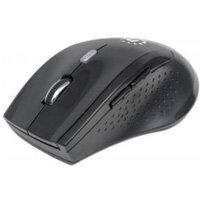 Manhattan Curve 179386 Mouse Optical Wireless 5 Button s Black Radio Frequency USB 1600 dpi Computer Scroll Wheel