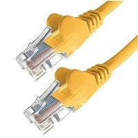 Group Gear 5M Yellow RJ45 UTP CAT 5e Stranded Flush Moulded Snagless Network Cable 24AWG 22248