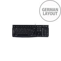 Logitech K120 Keyboard Cable Connectivity Black USB Interface German