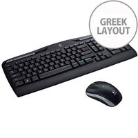 Logitech Wireless Combo MK330 Keyboard & Mouse USB 2.0 Wireless RF Greek USB 2.0 Wireless RF Optical 1000 dpi Scroll Wheel Play Pause Previous Track Next Track Volume Control Mute Hot Keys AA AAA Compatible with Computer Notebook Netbook PC