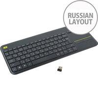 Wireless Touch Keyboard K400 Plus Dark RUS INTNL