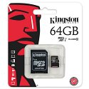 Kingston Canvas Select 64 GB microSDXC Class 10/UHS-I (U1) 80 MB/s Read - 10 MB/s Write