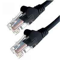 Group Gear 0.5M Black RJ45 UTP CAT 5e Stranded Flush Moulded Snagless Network Cable 24AWG  22188