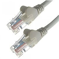 Group Gear 0.5M Grey RJ45 UTP CAT 5e Stranded Flush Moulded Snagless Network Cable 24AWG  22183