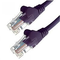 Group Gear 0.5M Purple RJ45 UTP CAT 5e Stranded Flush Moulded Snagless Network Cable 24AWG  22191