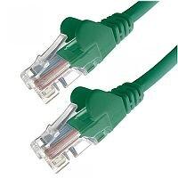 Group Gear 3M Green RJ45 UTP CAT 5e Stranded Flush Moulded Snagless Network Cable 24AWG  22236