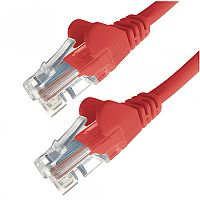 Group Gear 3M Red RJ45 UTP CAT 5e Stranded Flush Moulded Snagless Network Cable 24AWG  22234
