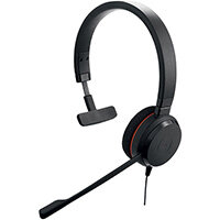 Jabra Evolve 20 UC Mono, Headset, Head-band, Office/Call center, Black, Monaural, Volume +, Volume -