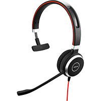 Jabra Evolve 40 MS Mono USB-C, Headset, Head-band, Office/Call center, Black, Monaural, 1.2 m