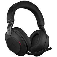 Jabra Evolve2 85, MS Stereo, Headset, Head-band, Office/Call center, Black, Binaural, Bluetooth pairing, Play/Pause, Track <, Track >, Volume +, Volume -
