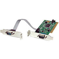 StarTech.com 2 Port PCI Low Profile RS232 Serial Adapter Card with 16550 UART, PCI, Serial, RS-232, Green, 6548788 h, CE, UL, FCC, TAA, REACH