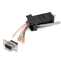 StarTech.com DB9 to RJ45 Modular Adapter - F/F, DB-9, RJ-45, Black