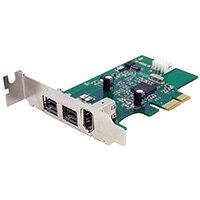 StarTech.com 3 Port 2b 1a Low Profile 1394 PCI Express FireWire Card Adapter, PCIe, IEEE 1394/Firewire, Green, CE, FCC, LSI/Agere - FW643, 0.8 Gbit/s