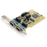 StarTech.com 2 Port RS232/422/485 PCI Serial Adapter Card w/ ESD Protection, PCI/PCI-X, Serial, PCI 2.2, RS-232/422/485, Yellow, 234450 h