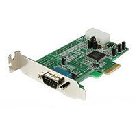 StarTech.com 1 Port Low Profile Native RS232 PCI Express Serial Card with 16550 UART, PCIe, Serial, PCI 1.1, RS-232, Green, CE, FCC