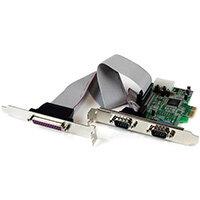 StarTech.com 2S1P Native PCI Express Parallel Serial Combo Card with 16550 UART, PCIe, Serial, PCIe 1.0a, RS-232, Green, Stainless steel, ASIX - MCS9901CV-CC