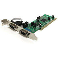 StarTech.com 2 Port PCI RS422/485 Serial Adapter Card with 161050 UART, PCI/PCI-X, Serial, RS-422,RS-485, CE, FCC, SystemBase -SB16C1052PCI, 128 Kbit/s
