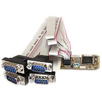 StarTech.com 4 Port RS232 Mini PCI Express Serial Card w/ 16650 UART, Mini PCI Express, Serial, RS-232, Green, MosChip MCS9904CV-AA, 256 B