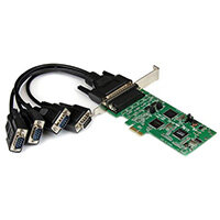 StarTech.com 4 Port PCI Express PCIe Serial Combo Card - 2 x RS232 2 x RS422 / RS485, PCIe, Serial, RS-232/422/485, SystemBase SB16C1052PCI, 256 B, 0 - 100 °C