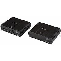 StarTech.com Newer version available USB2G4LEXT2NA: 4 Port USB 2.0 over Gigabit LAN or Direct Cat5e / Cat6 Ethernet Extender System - up to 330 ft (100m) - USB 2.0 Extender, 76 mm, 100 mm, 26 mm, 363 g, 194 mm, 197 mm