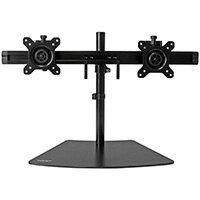 "StarTech.com Dual-Monitor Stand - Horizontal - Black, Freestanding, 8 kg, 61 cm (24""), 100 x 100 mm, Height adjustment, Black"
