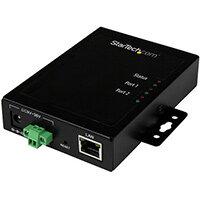 StarTech.com 2-Port Serial-to-IP Ethernet Device Server - RS232 - Metal and Mountable, 10/100Base-T(X), AC, 100 - 240 V, 12 V, 3 A, AU,EU,UK,US